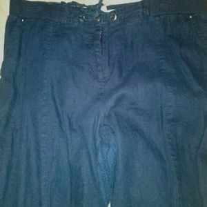 Womans linen pants wide leg